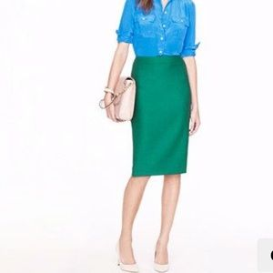 Timeless emerald No 2 pencil skirt from J Crew!